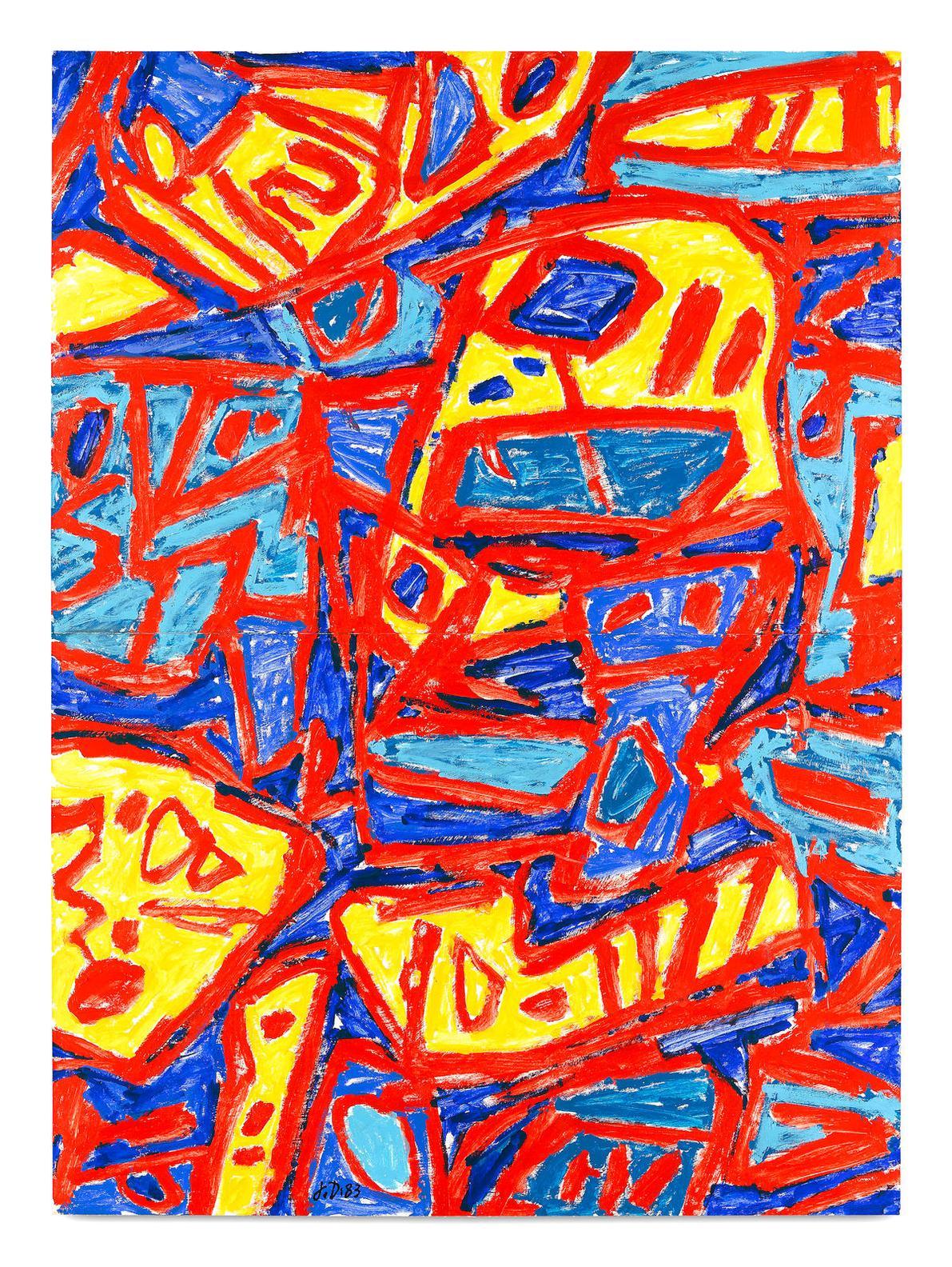 Jean Dubuffet-Mire G 13 (Bolivar)-1983