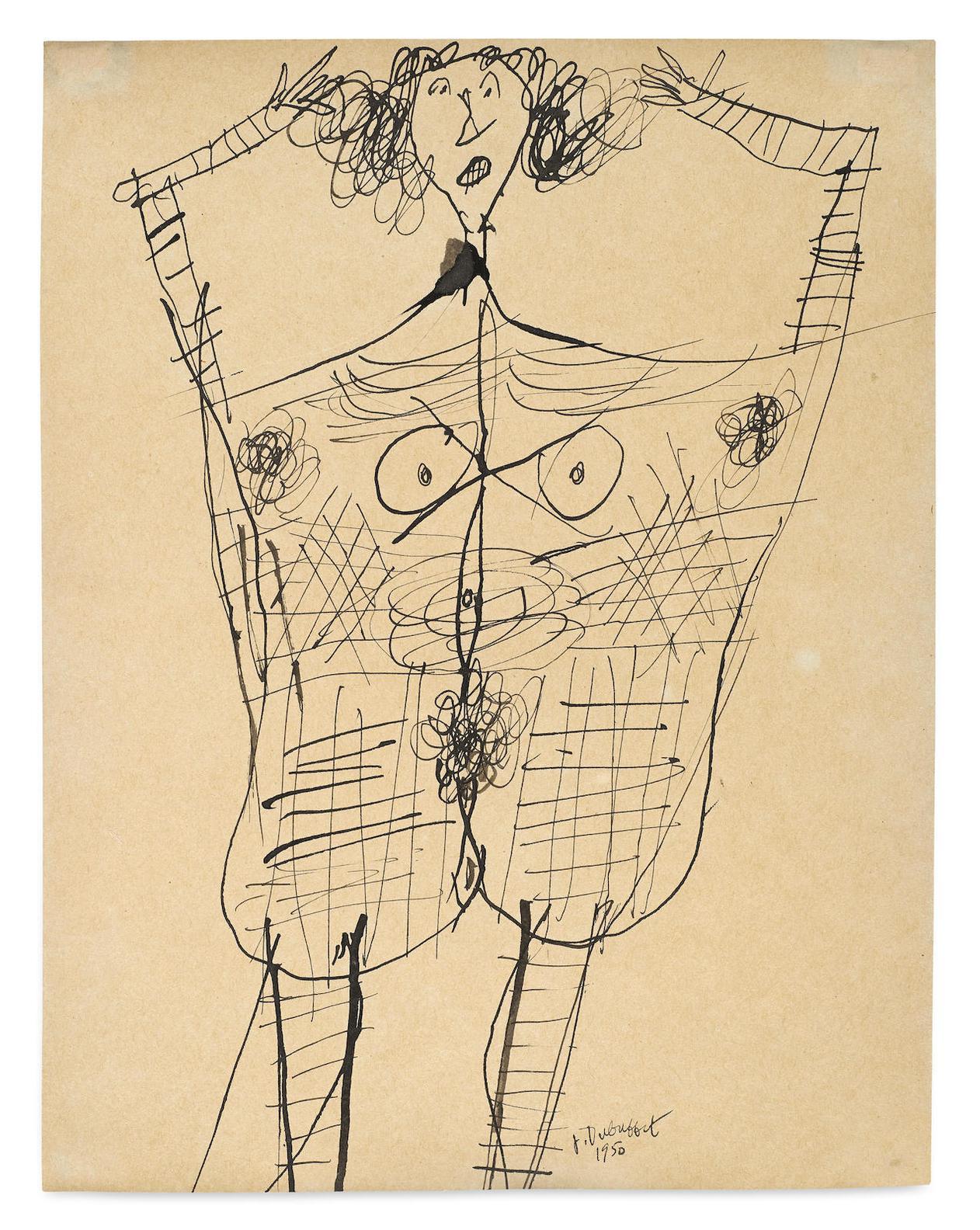 Jean Dubuffet-Corps De Dame-1950