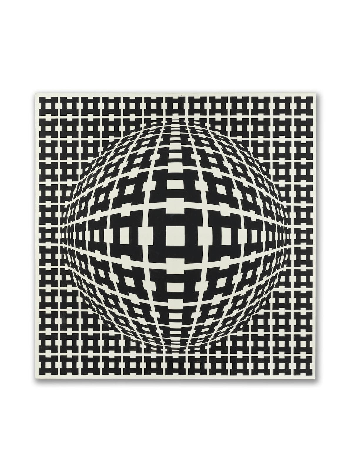 Victor Vasarely-Mimas-Dombar Pos-1973