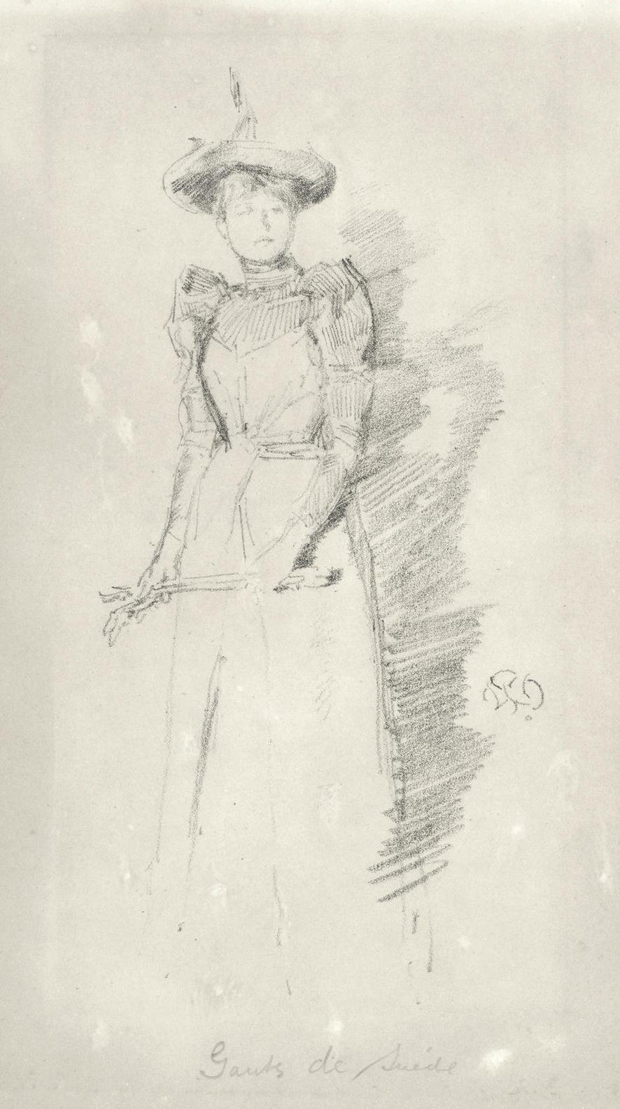 James Abbott McNeill Whistler-Gants De Suede (Spink, Stratis & Tedeschi 35)-1890