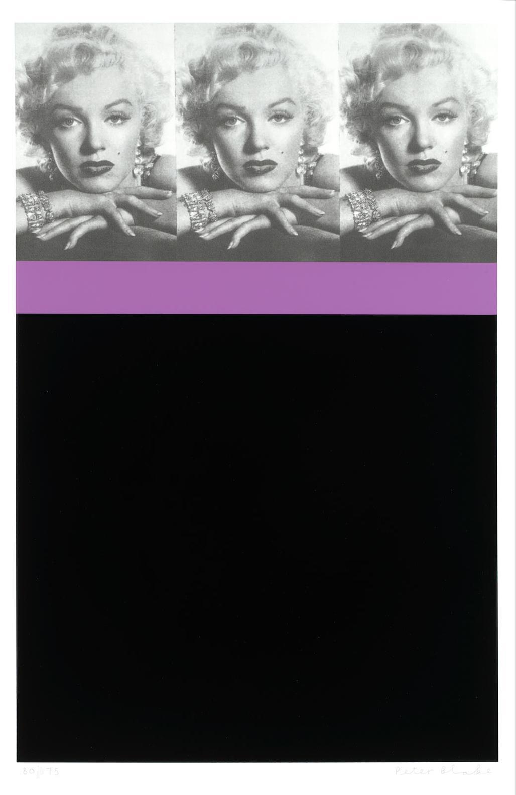 Sir Peter Blake - Marilyn Monroe (Black)-2009
