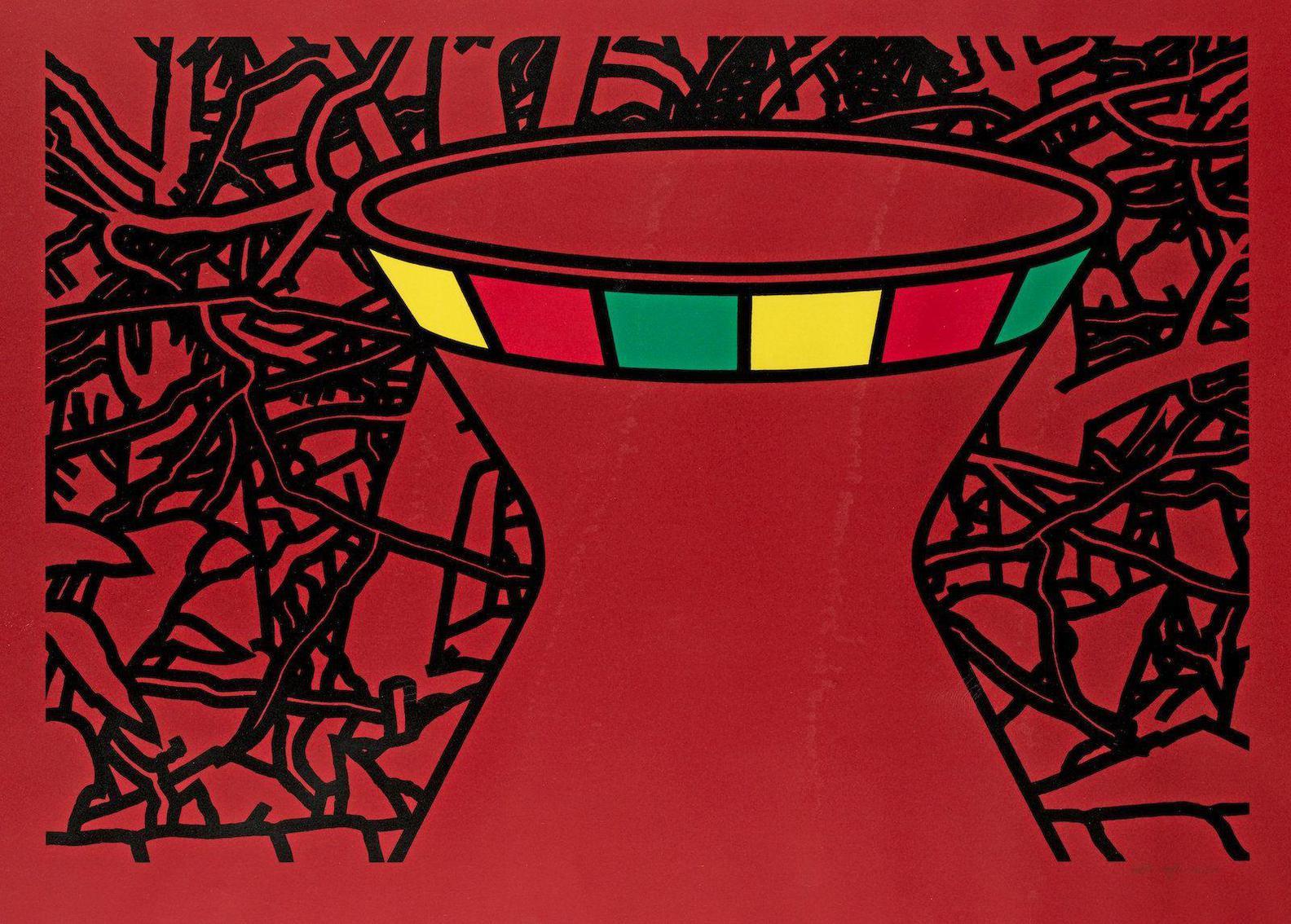 Patrick Caulfield-Terracotta Vase (Cristea 44)-1975