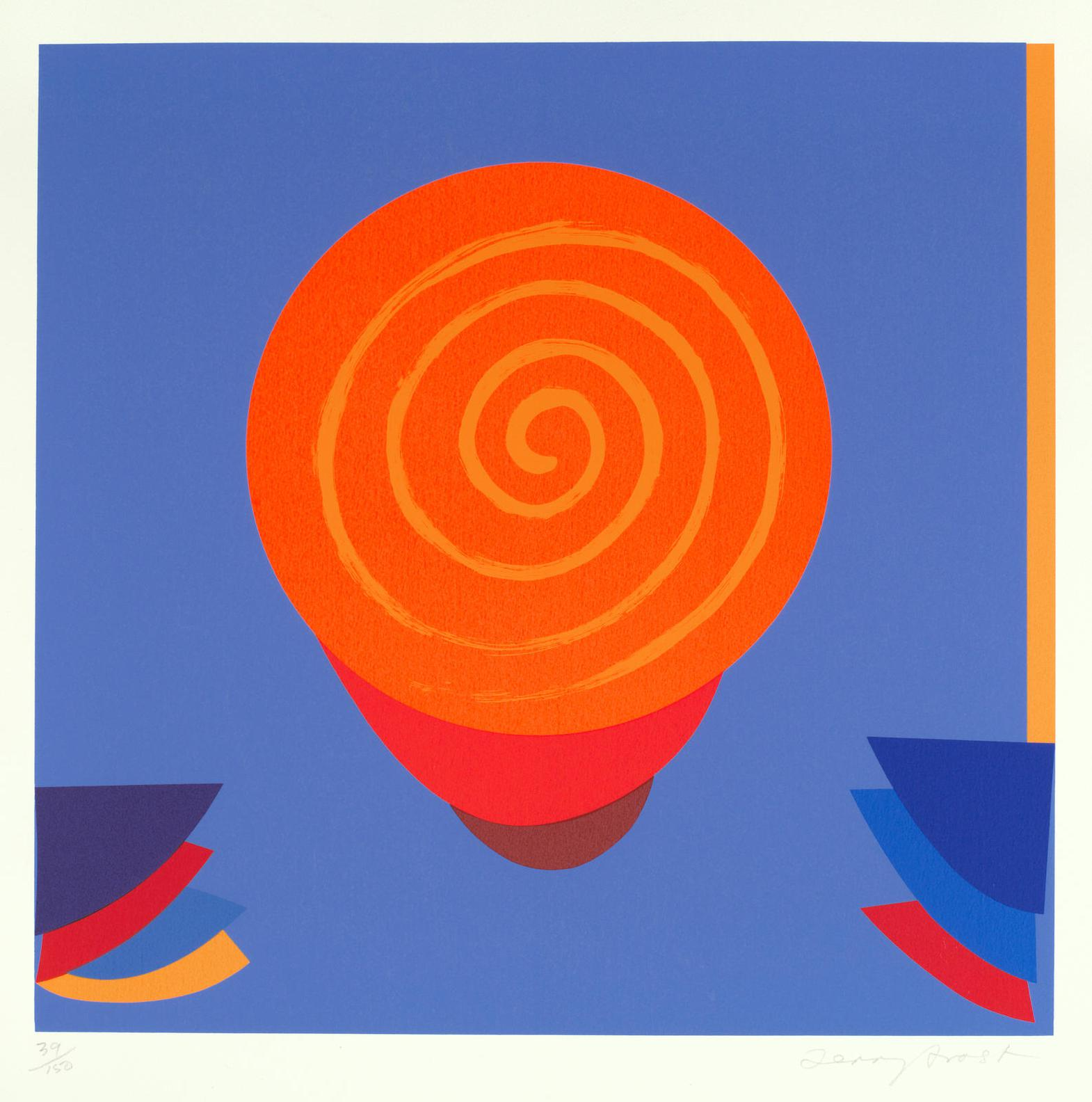 Sir Terry Frost - Orange And Blue Space (Kemp182)-1998