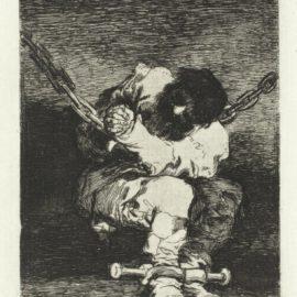 Francisco de Goya-Aveugle Enleve Sur Les Cornes Dun Taureau; Tan Barbara La Seguridad Como El Delito-1867