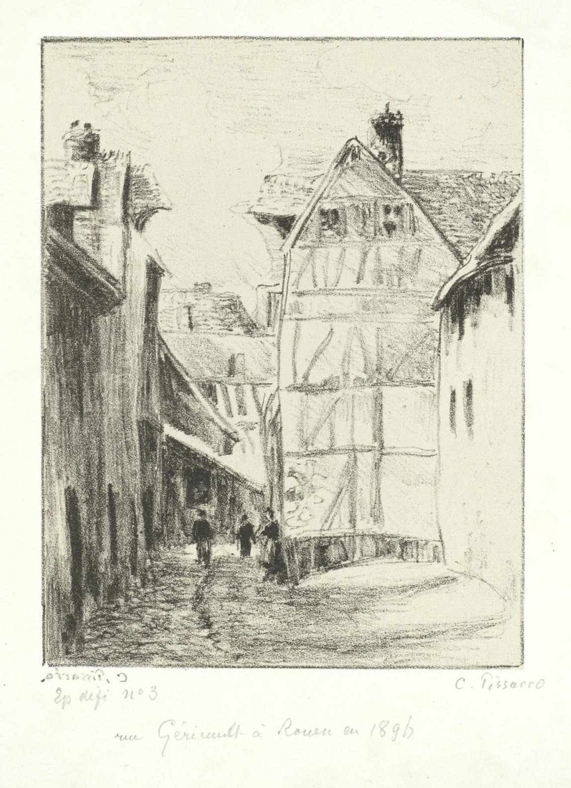 Camille Pissarro-Groupe De Paysans, 2E Planche (Variante) (D. 189)-1898