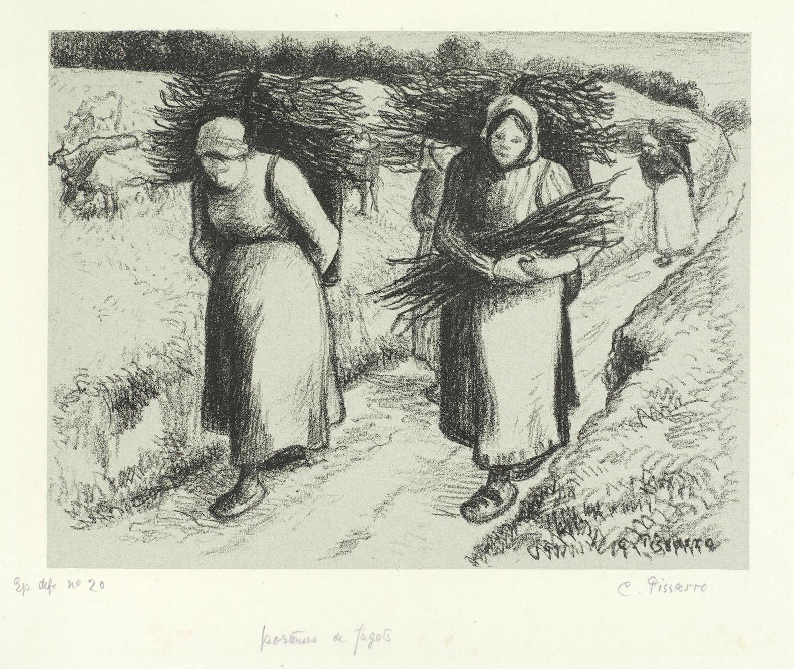Camille Pissarro-Porteuses De Fagots (D. 153)-1896