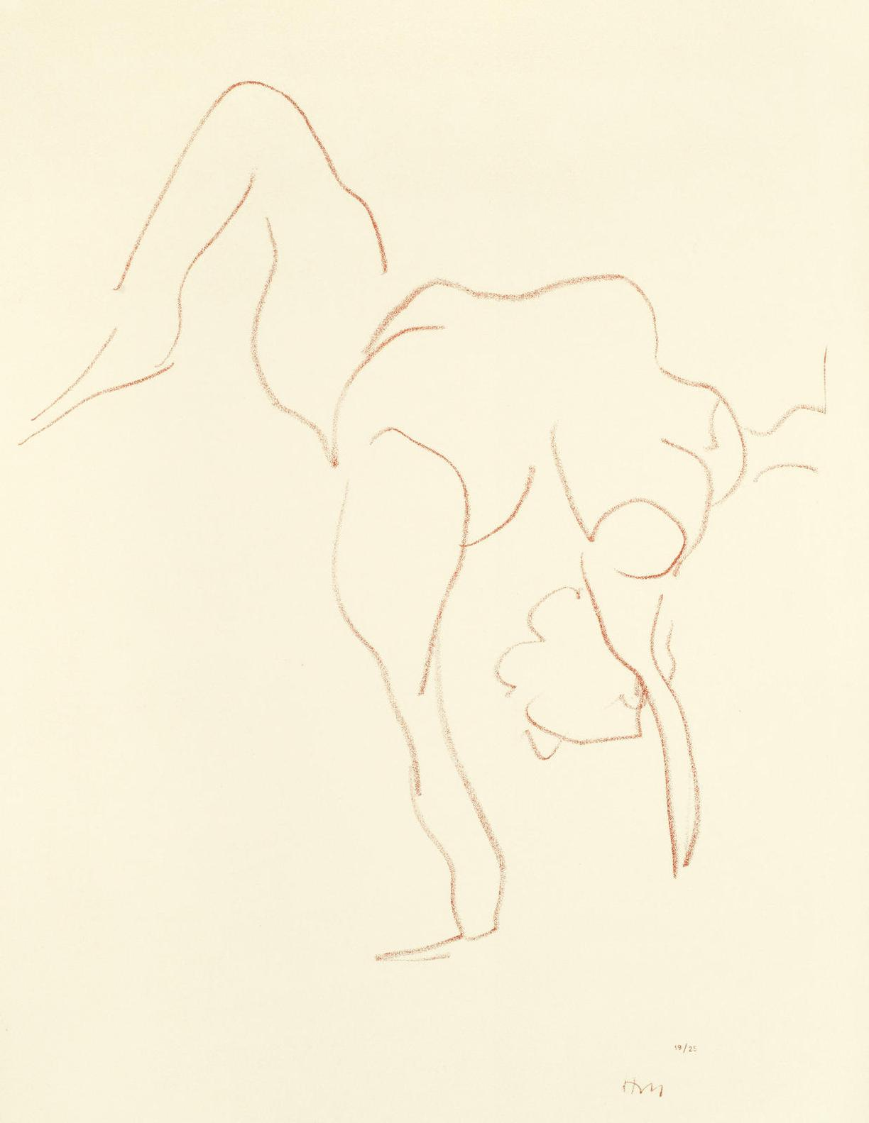 Henri Matisse-Plate 413 From Danseuses Acrobates (Duthuit 529)-1932