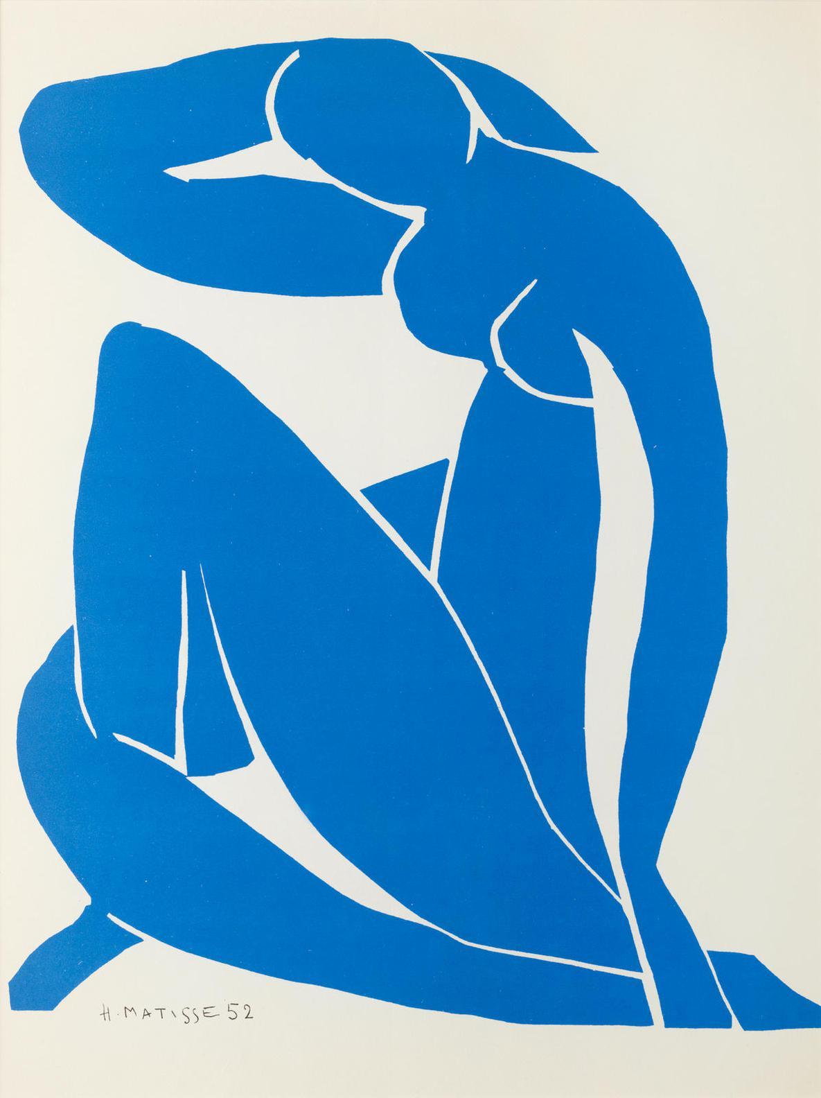 Henri Matisse-After Henri Matisse - Five Blue Nudes, From Verve Nos.35-36: Les Dernieres Oeuvres De Matisse 1950-54-1954