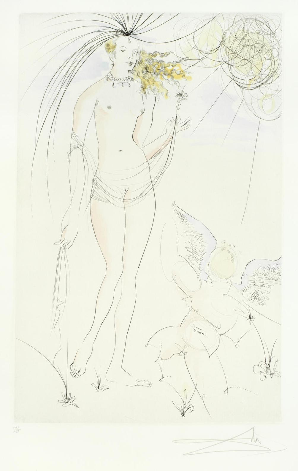 Salvador Dali-Venus Et Lamour, From Suite Mythologique Nouvelle (M. &. L. 483)-1971