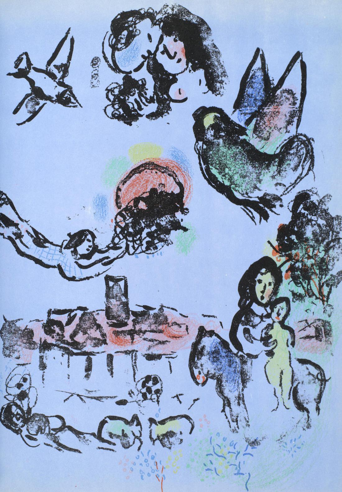 Marc Chagall-Lithograph I-IV (Cramer 43, 53, 77, 94)-1974