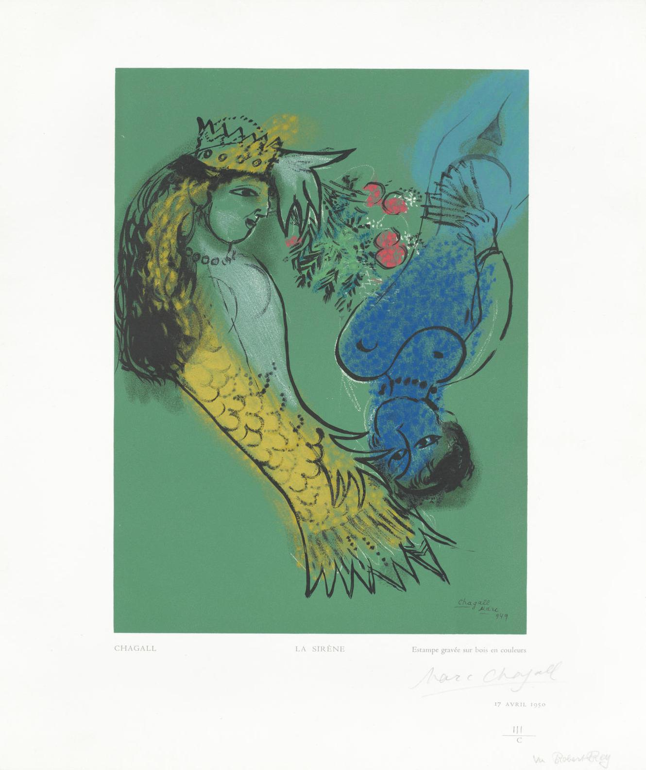 Marc Chagall-After Marc Chagall - La Sirene-1950