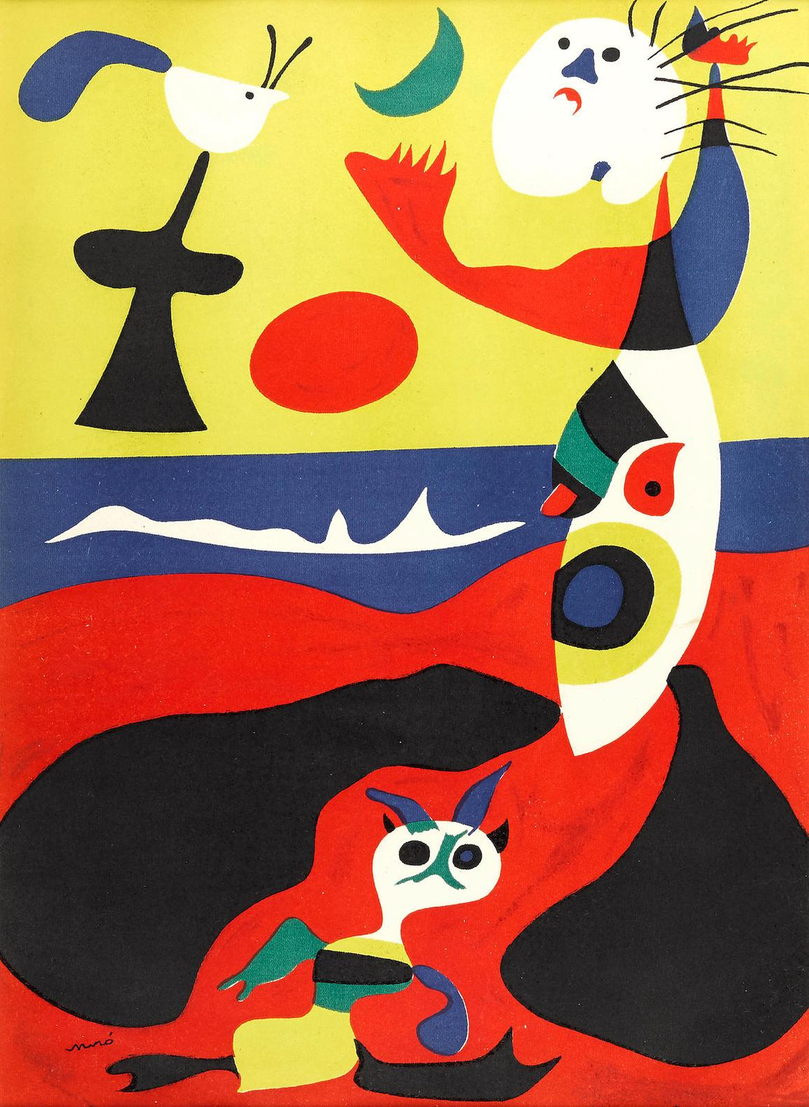 Joan Miro-Lair From Verve No.2; Lete From Verve No.3-