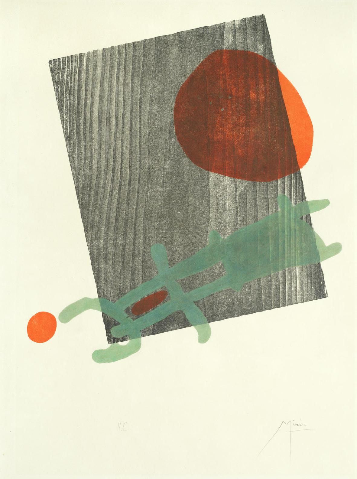 Joan Miro-One Plate, From A Toute Epreuve (Dupin 235)-1958