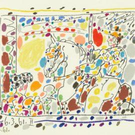 Pablo Picasso-A Los Toros 1014-1017; Cramer Books 113)-1961