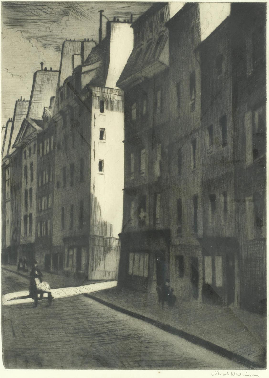 Christopher Richard Wynne Nevinson A.R.A - Quartier Latin (Guichard91)-1927