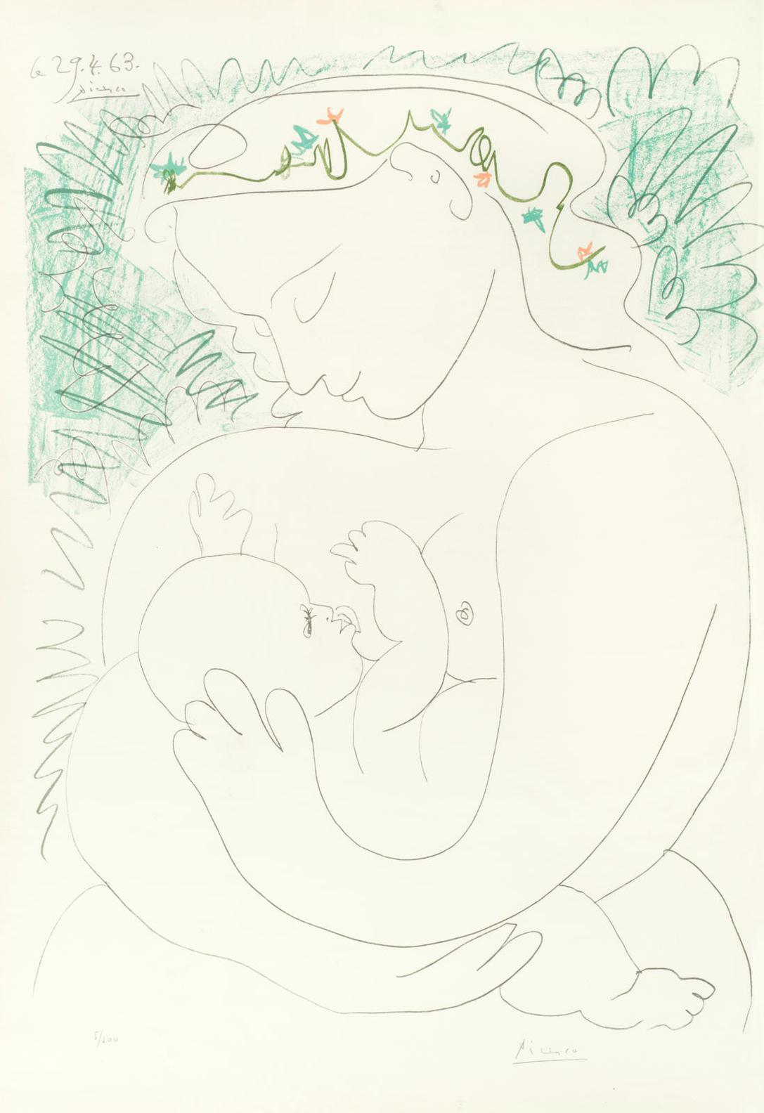 Pablo Picasso-After Pablo Picasso - Maternite-1963