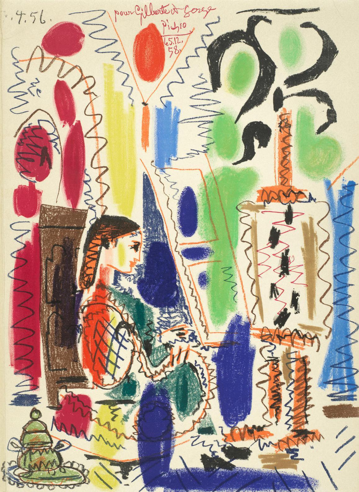 Pablo Picasso-Latelier De Cannes, Cover For Ces Peintres Nos Amis, Vol. Ii (Mourlout 279; Bloch 794)-1956