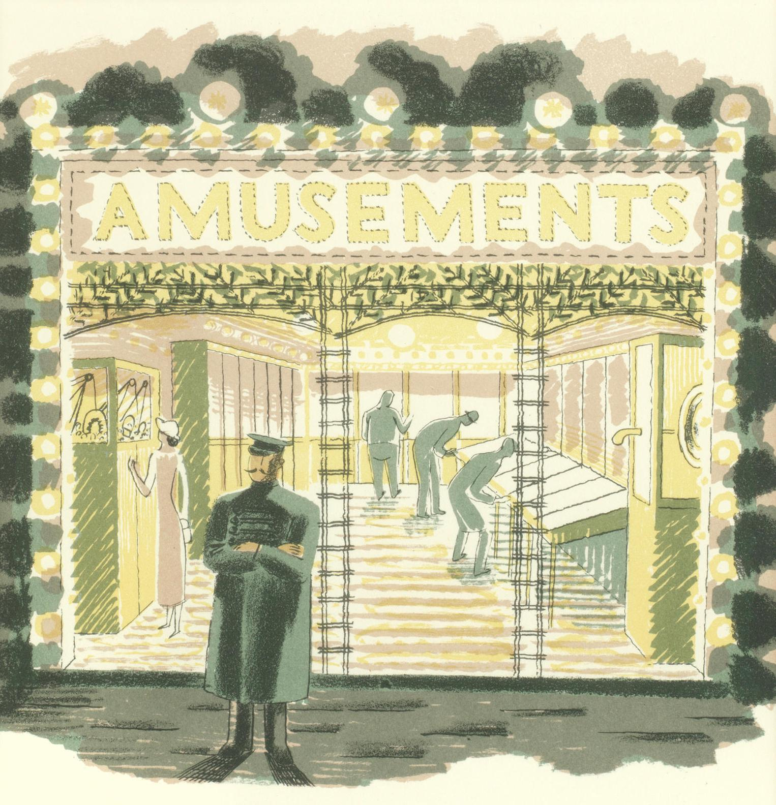 Eric William Ravilious-Amusement Arcade And Clerical Outfitter, From High Street-1938