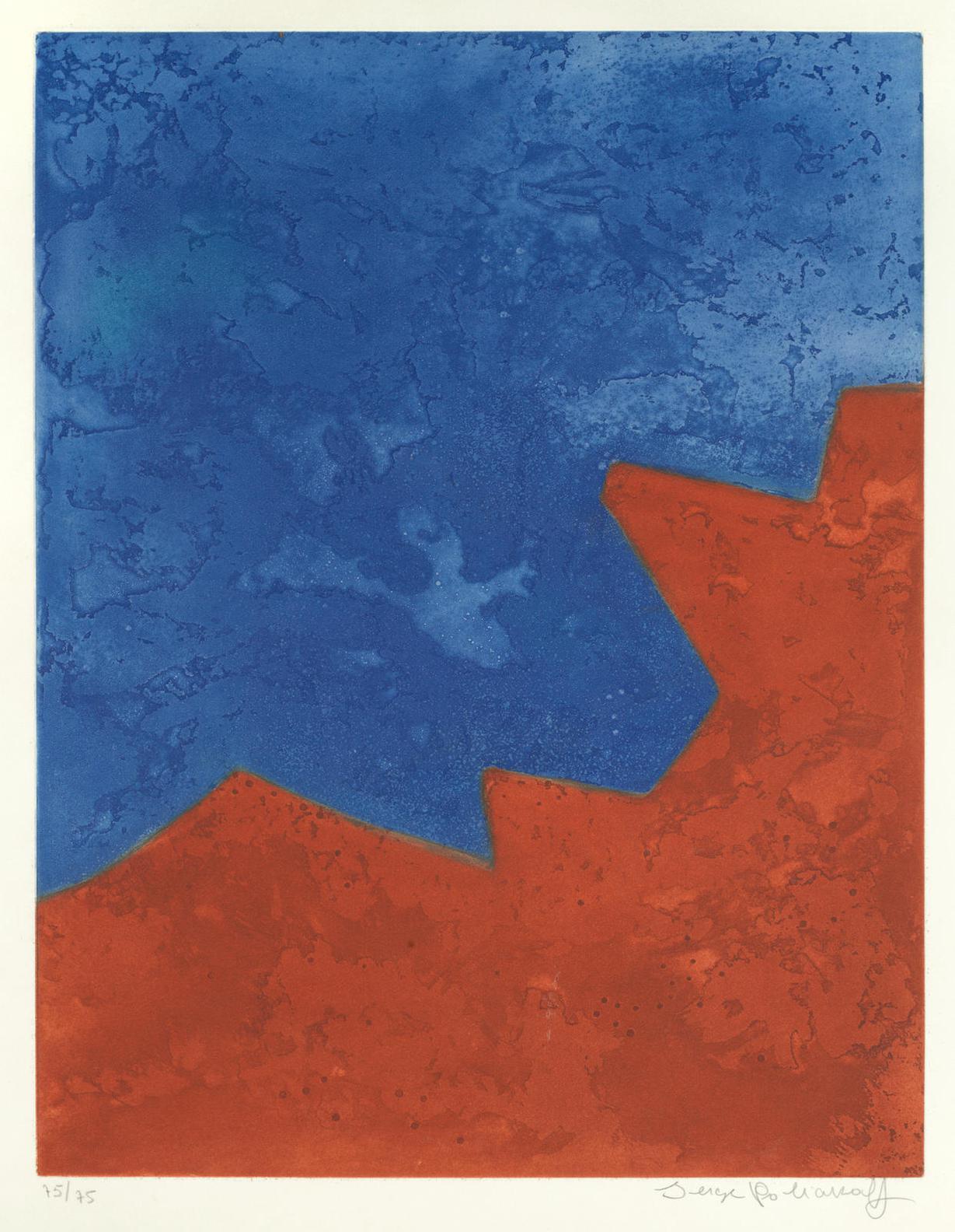 Serge Poliakoff-Composition Rouge Et Bleue (Schneider XXXII)-1967