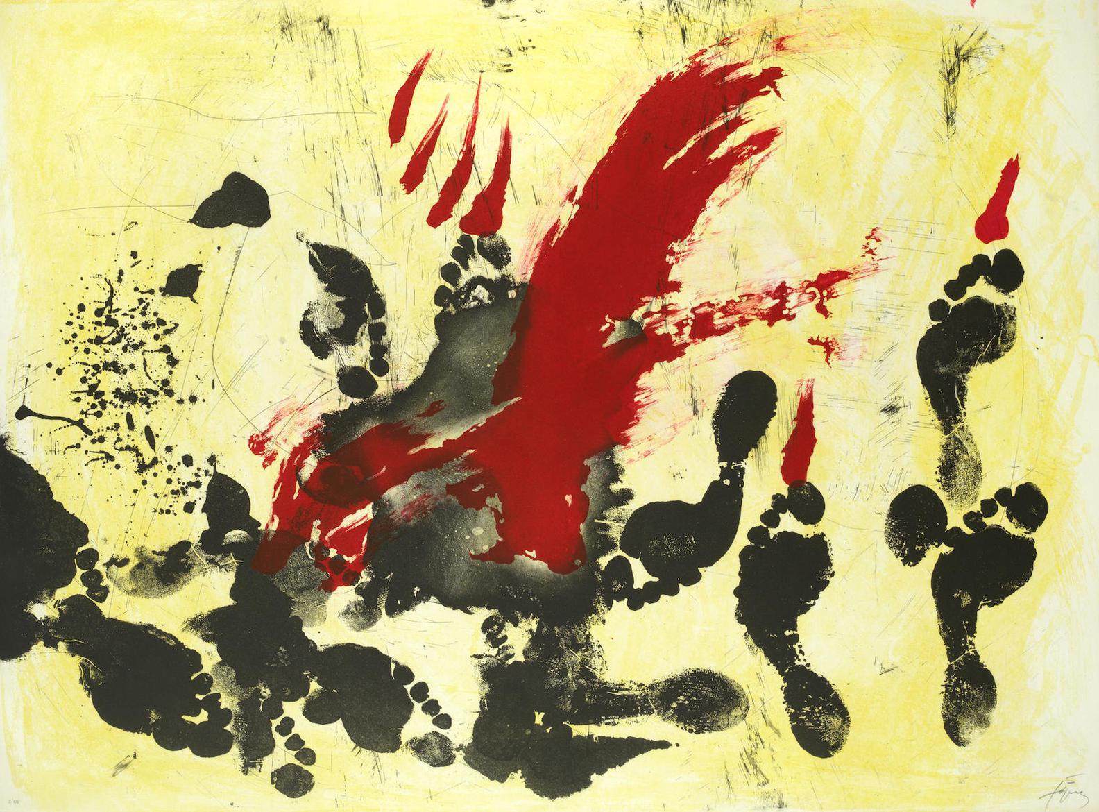 Antoni Tapies-La Taca Vermella (Galfetti 309)-1972