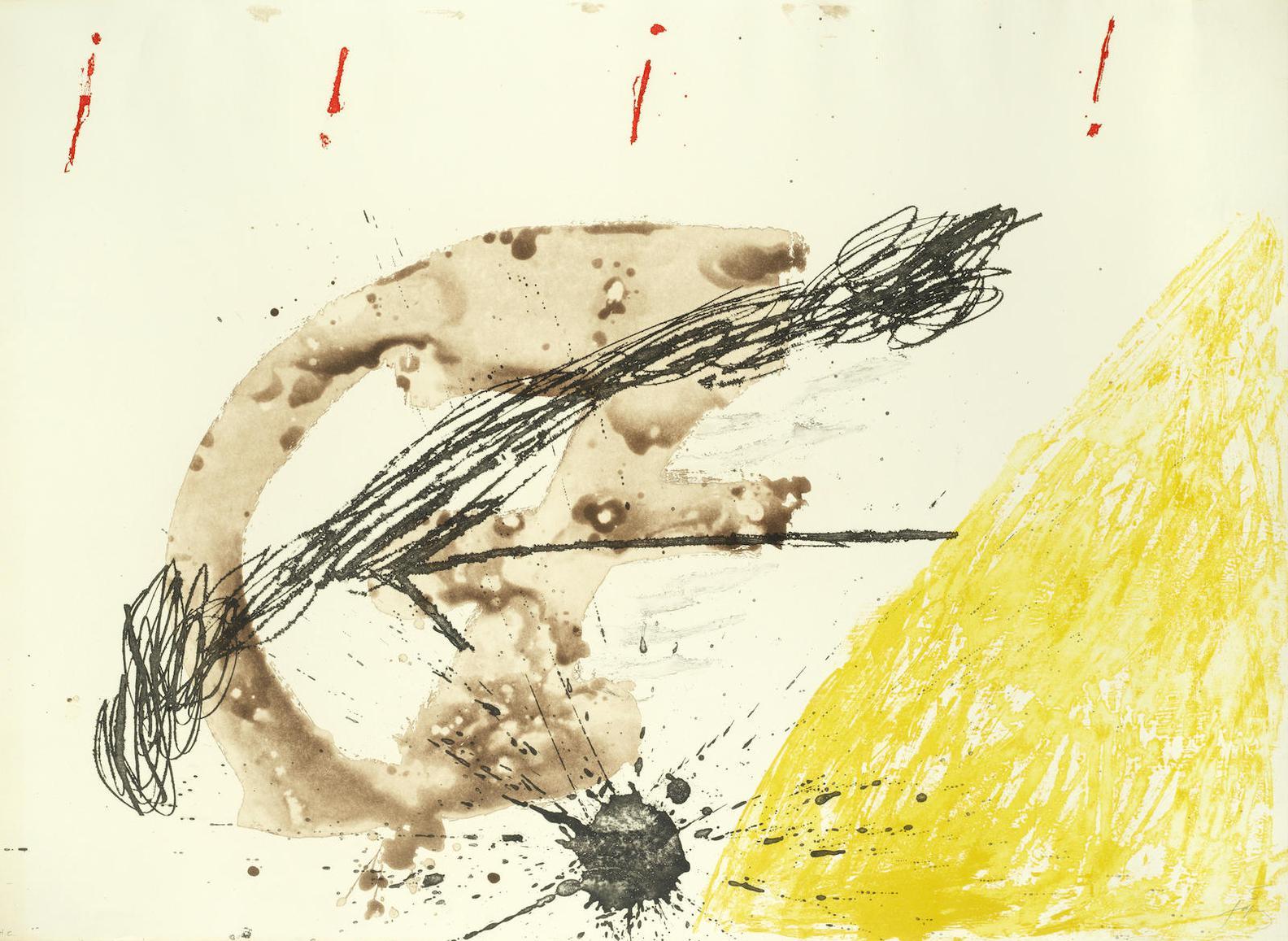 Antoni Tapies-Untitled (Galfetti 308)-1972