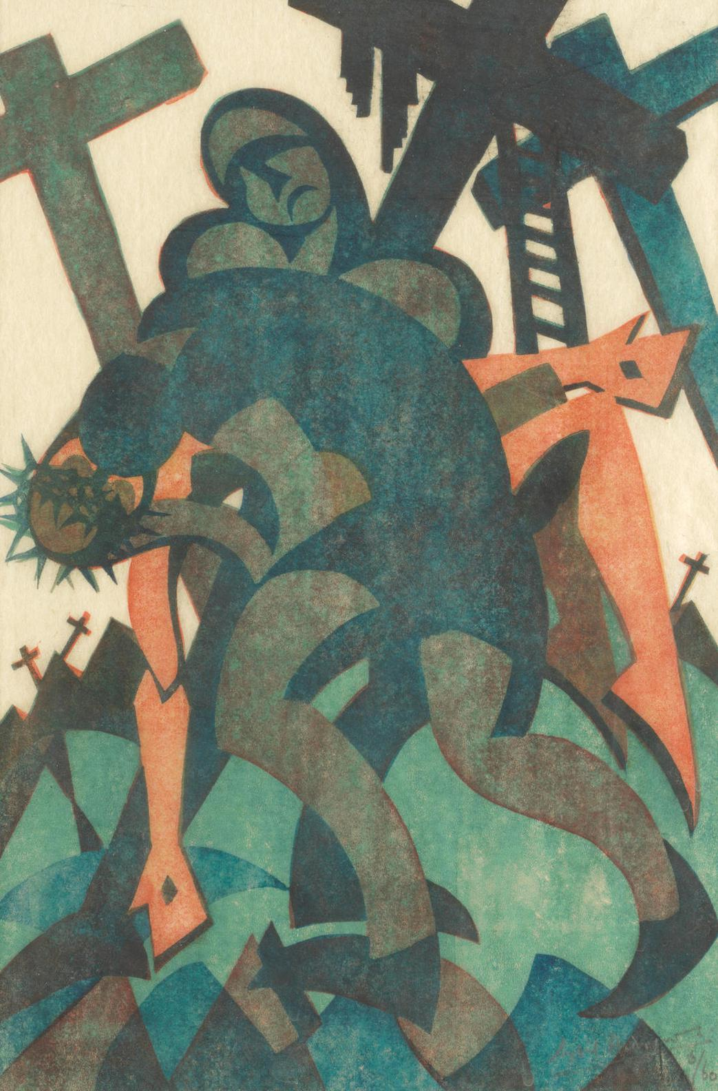 Sybil Andrews Cpe - Joseph & Nicodemus-1932