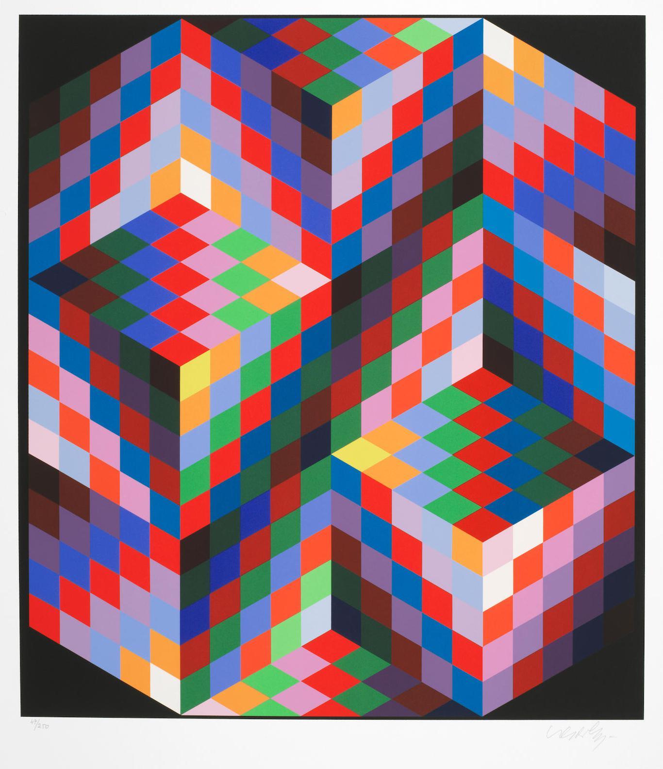 Victor Vasarely-Diam-1988