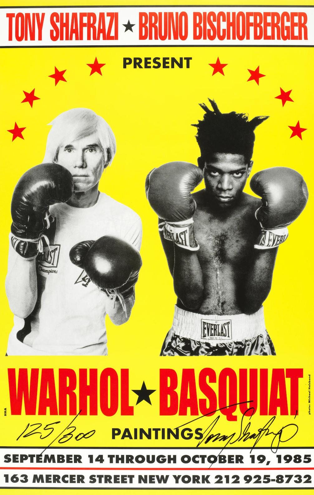 Jean-Michel Basquiat And Andy Warhol - Poster For Warhol/Basquiat Paintings-1985