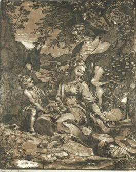 Federico Barocci-After Federico Barocci - The Rest On The Flight Into Egypt (Bartsch 11)
