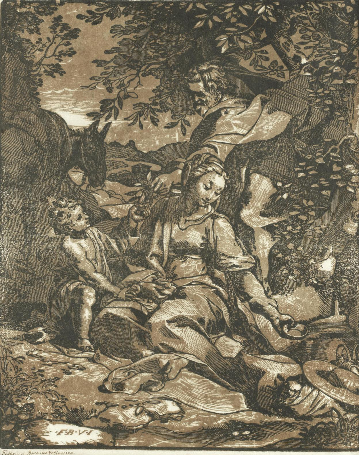 Federico Barocci-After Federico Barocci - The Rest On The Flight Into Egypt (Bartsch 11)-