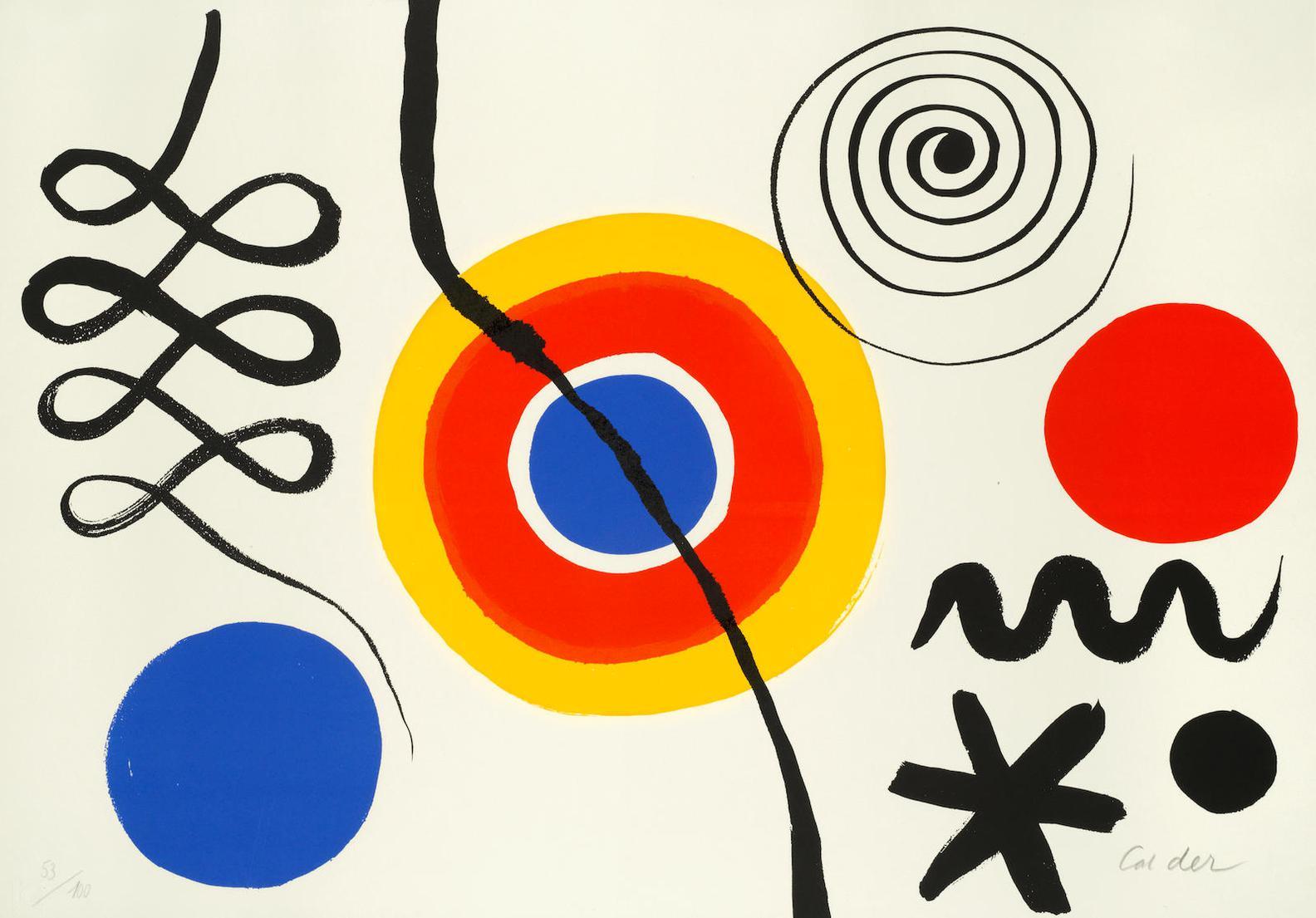 Alexander Calder-Soleil & Spirale-1965