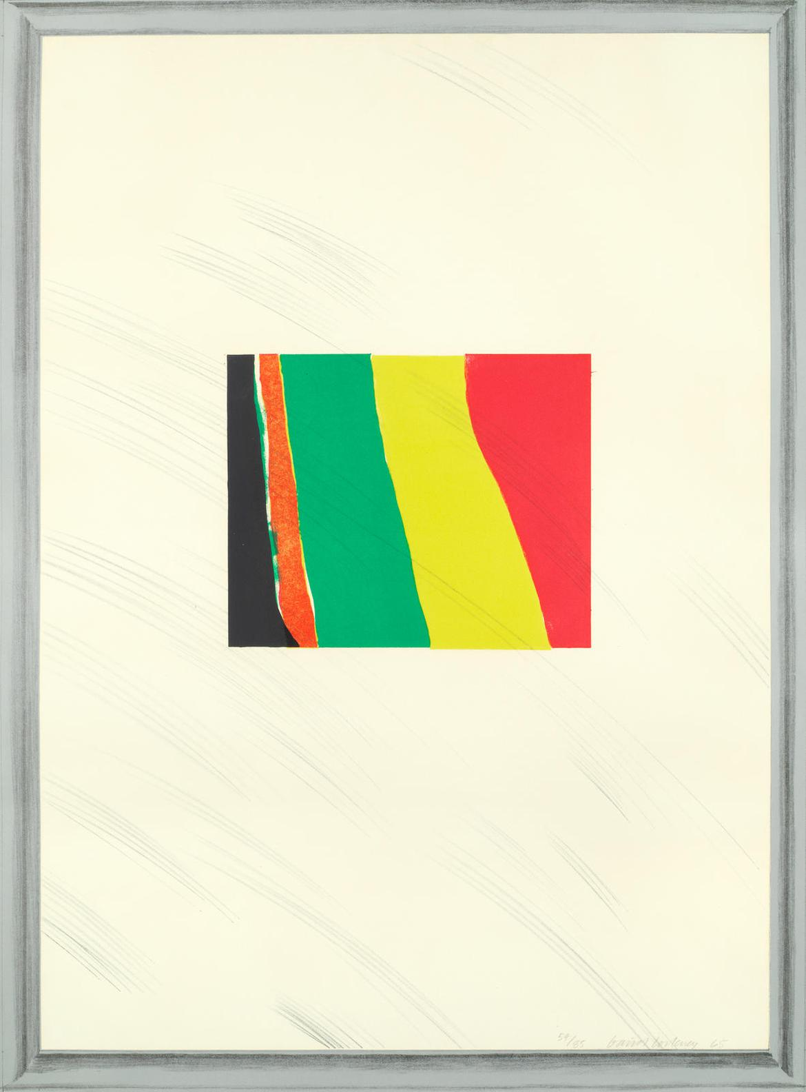 David Hockney-Picture Of A Pointless Abstraction Framed Under Glass, From A Hollywood Collection 6 (Mca Tokyo 46)-1965