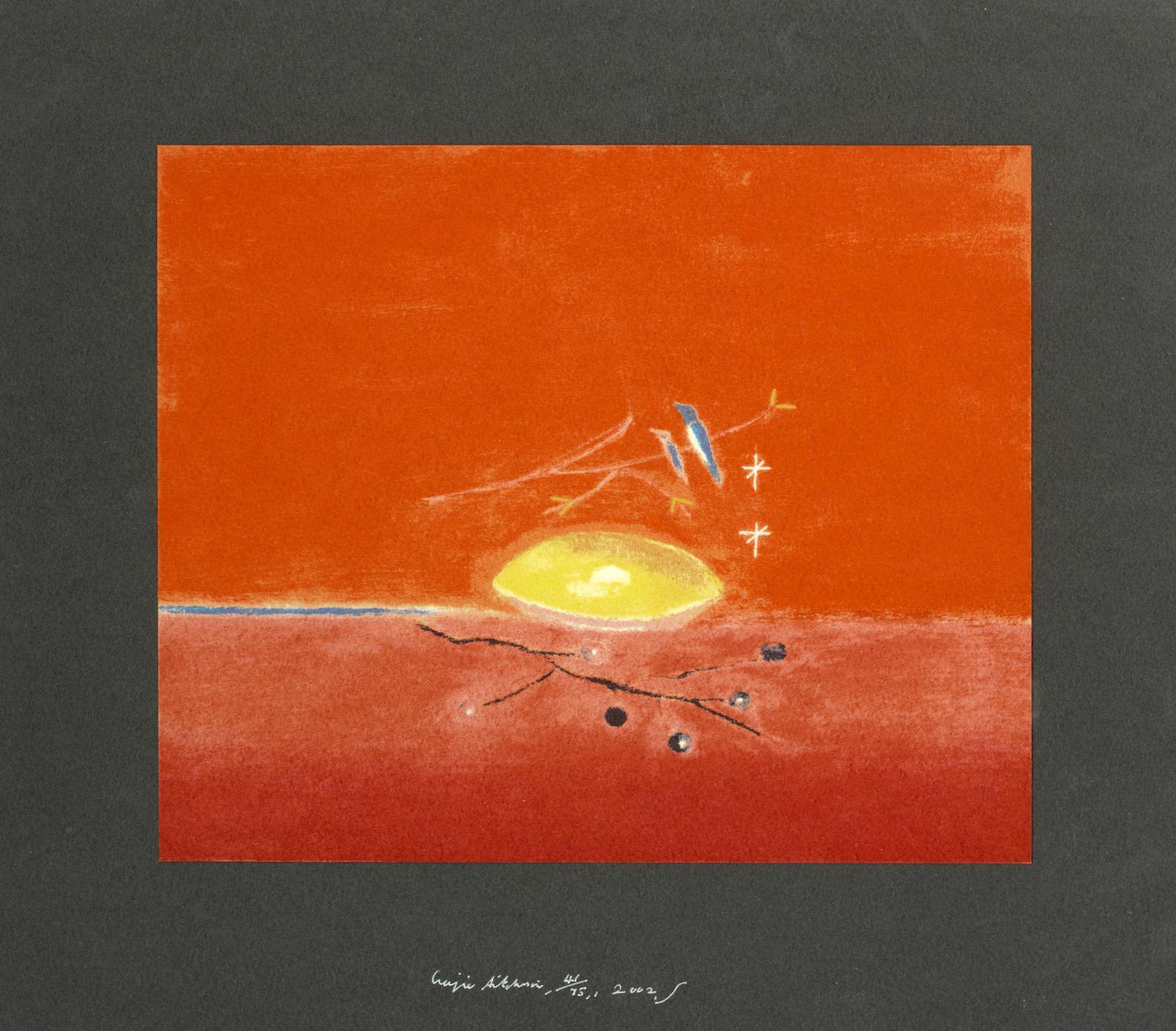 Craigie Aitchison-Lemon & Birds-2002