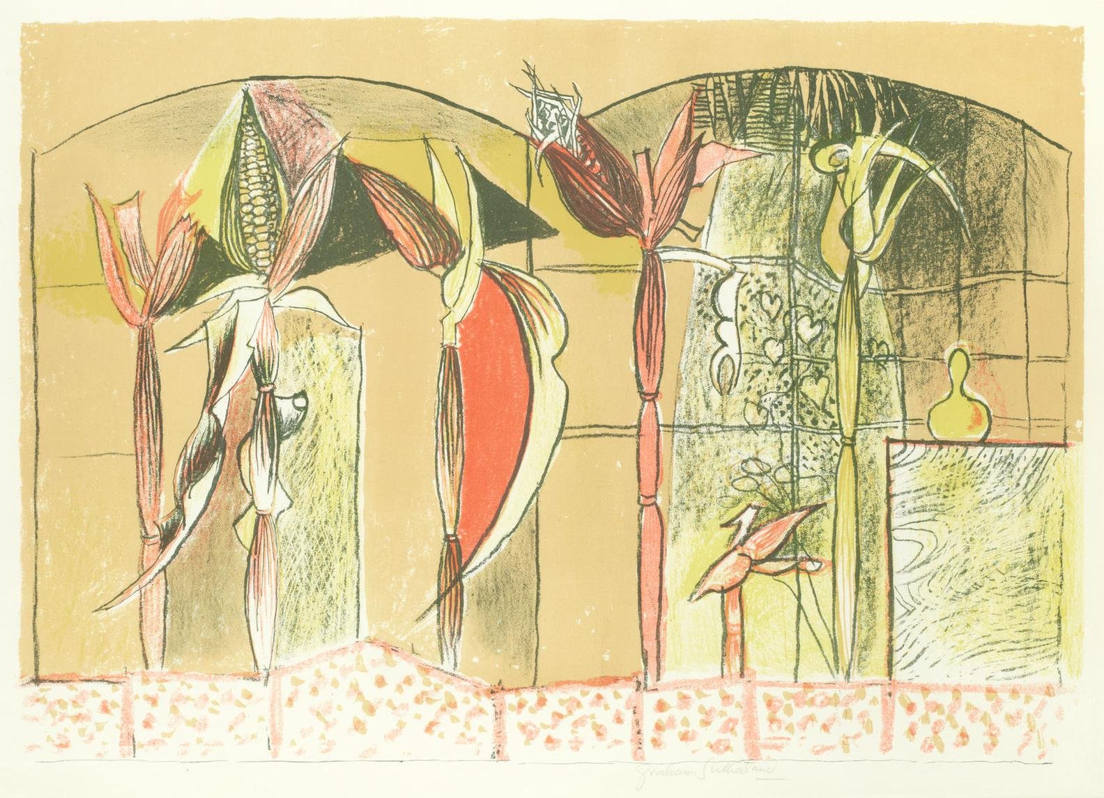 Graham Sutherland-Maize; Interior Of A Wood (Tassi 49)-1948