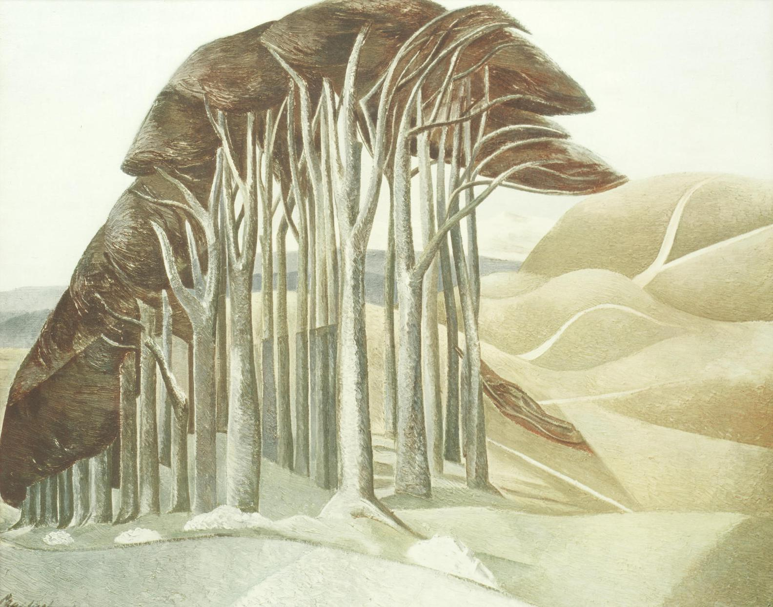 Paul Nash-Wood On The Downs-