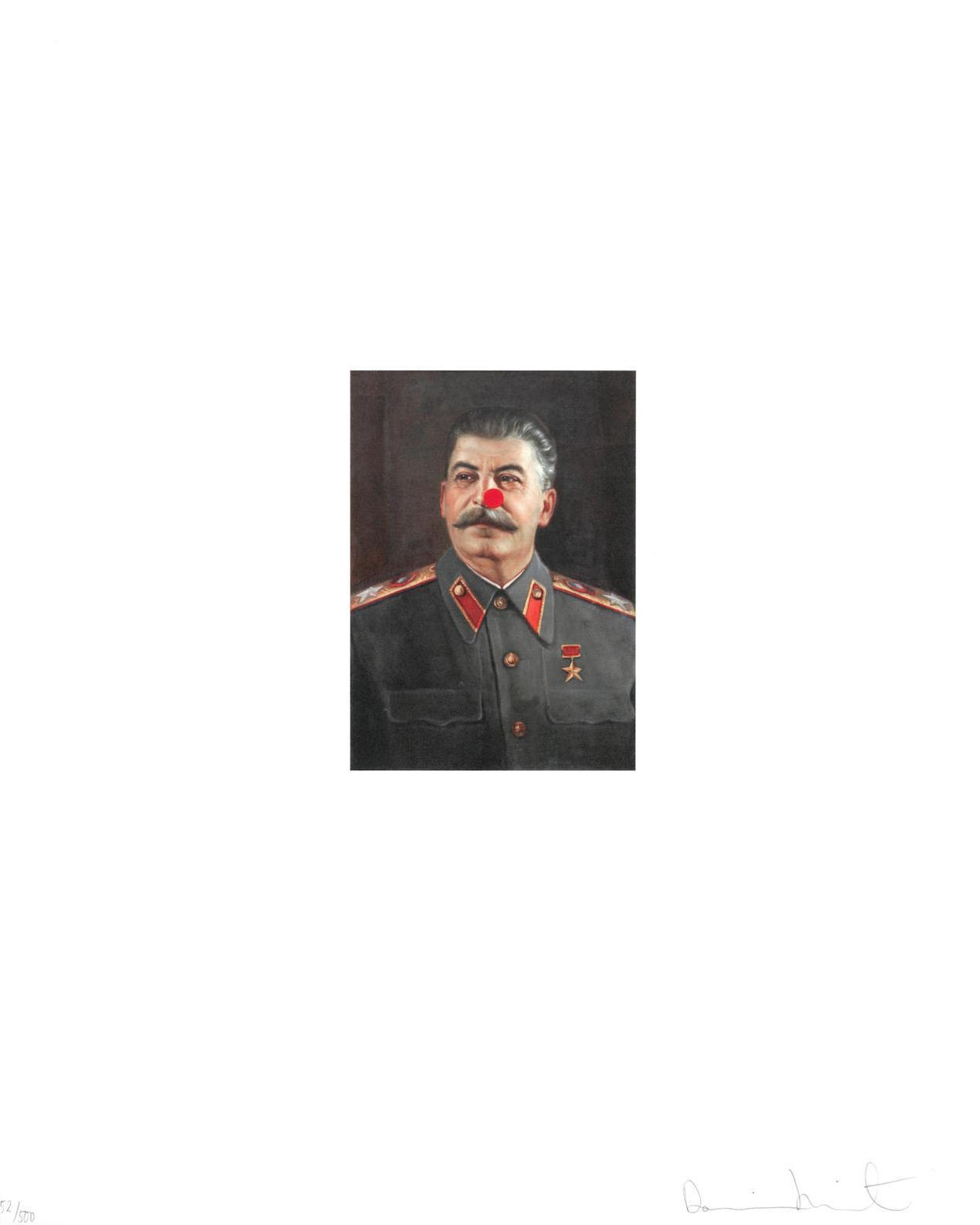 Damien Hirst-Red Nose Stalin-2007