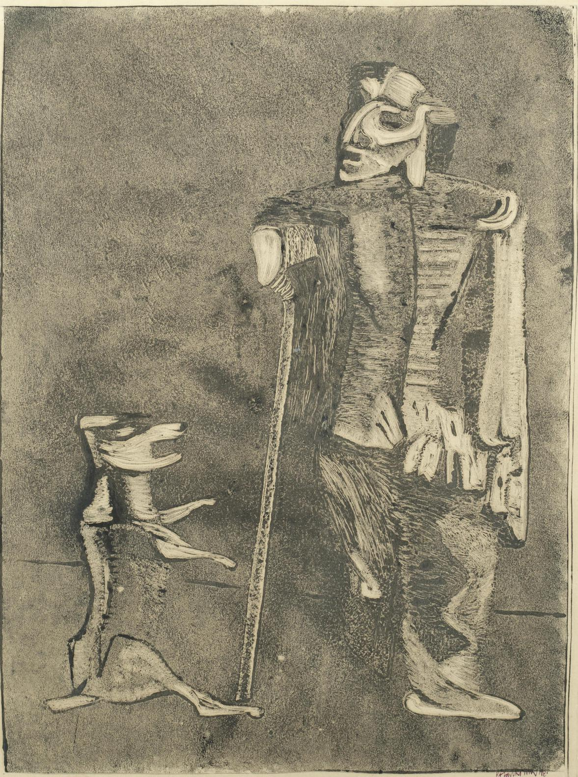 Robert Colquhoun-Beggar And Dog-1948