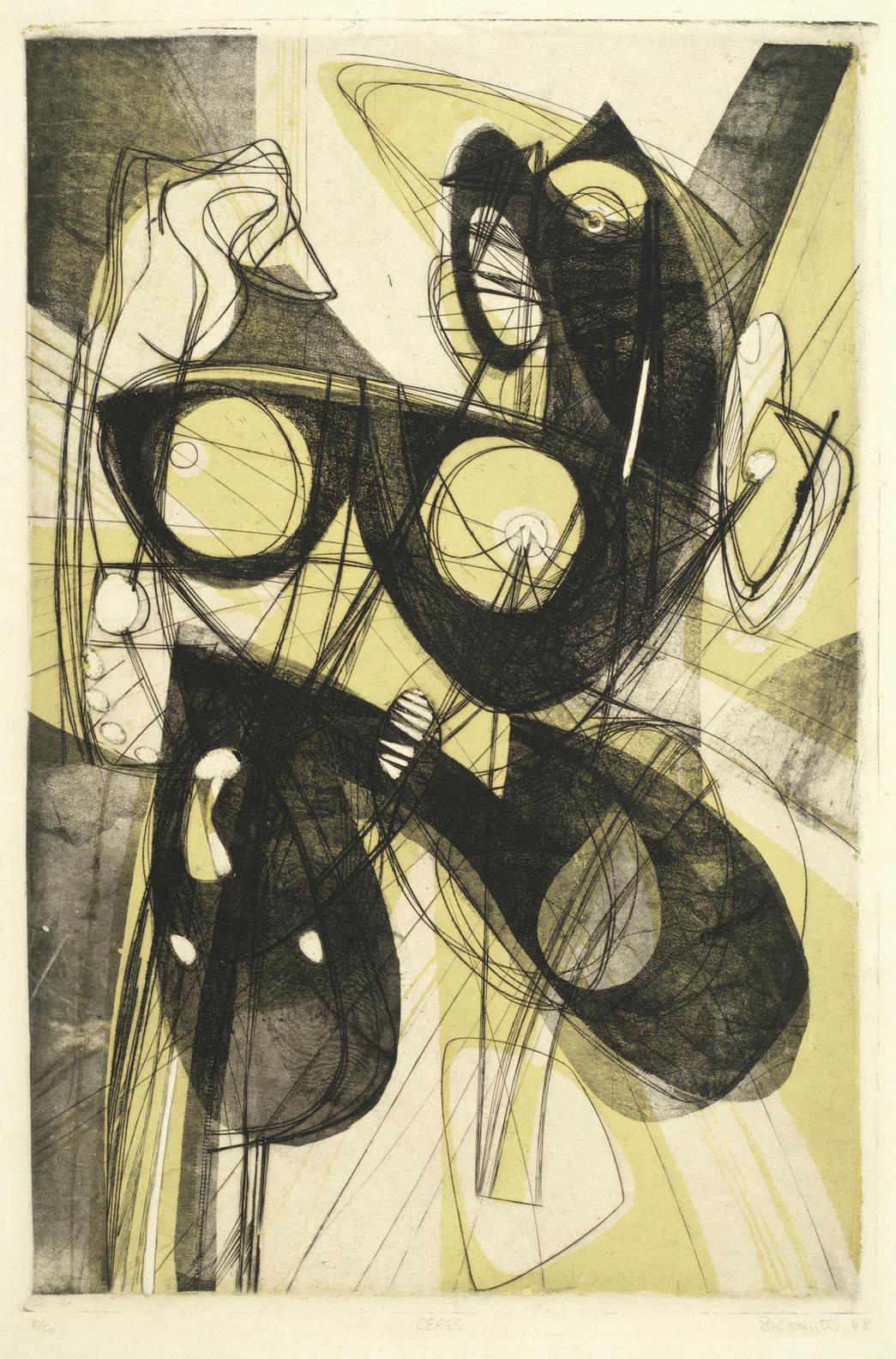 Stanley William Hayter-Ceres; Couple (Black & Moorhead 185; 206)-1947