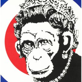 Banksy-Monkey Queen-2003