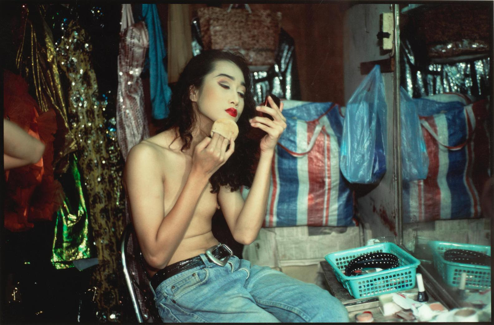 Nan Goldin-Yogo Putting On Powder, Second Trip, Bangkok-1992