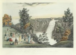 After James Pattison Cockburn - The Ice Point Formed Between Quebec & Point Levi In The Year 1831, By J. Stewart; The Falls Of Montmorency, (Quebec In The Distance), By C. Hunt; Cape Diamond And Wolfs Cave From Point A Pizeau, Near Quebec, By C. Hunt-1833