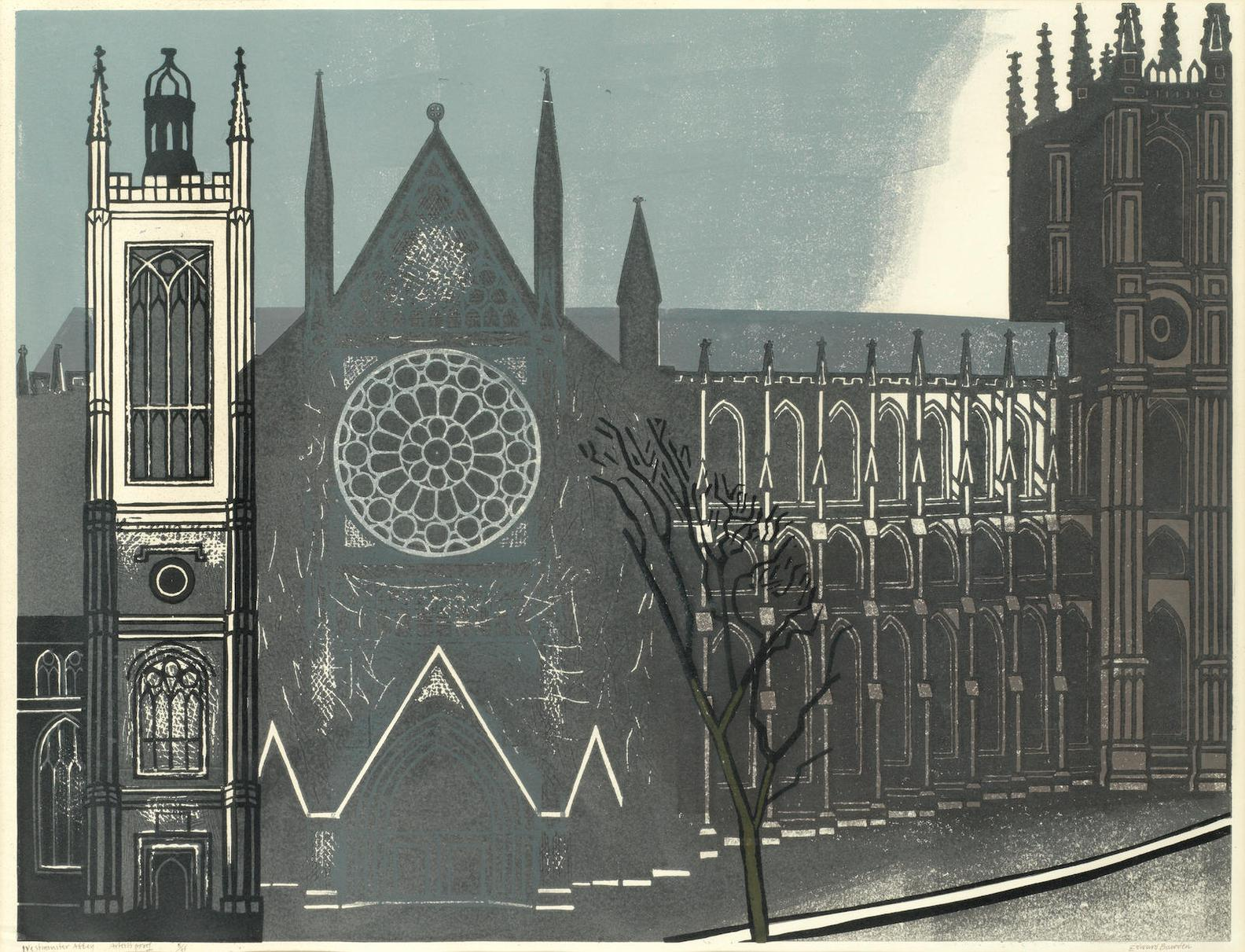 Edward Bawden-Westminster Abbey-1966