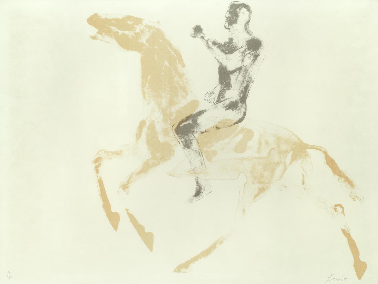 Elisabeth Frink-Horse And Rider (Wiseman 49)-1971