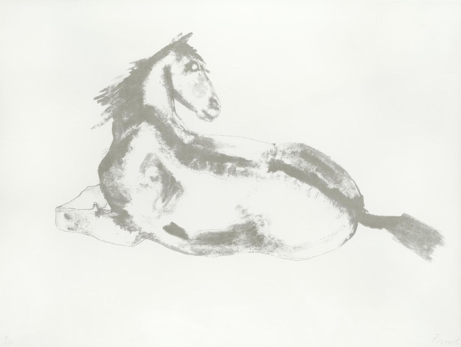 Elisabeth Frink-Lying Down Horse (Wiseman 57)-1972