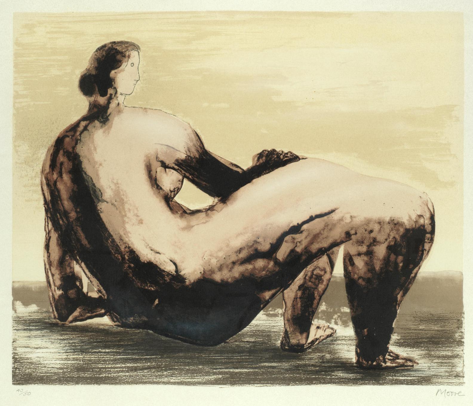 Henry Moore-Reclining Woman (Cramer 592)-1981