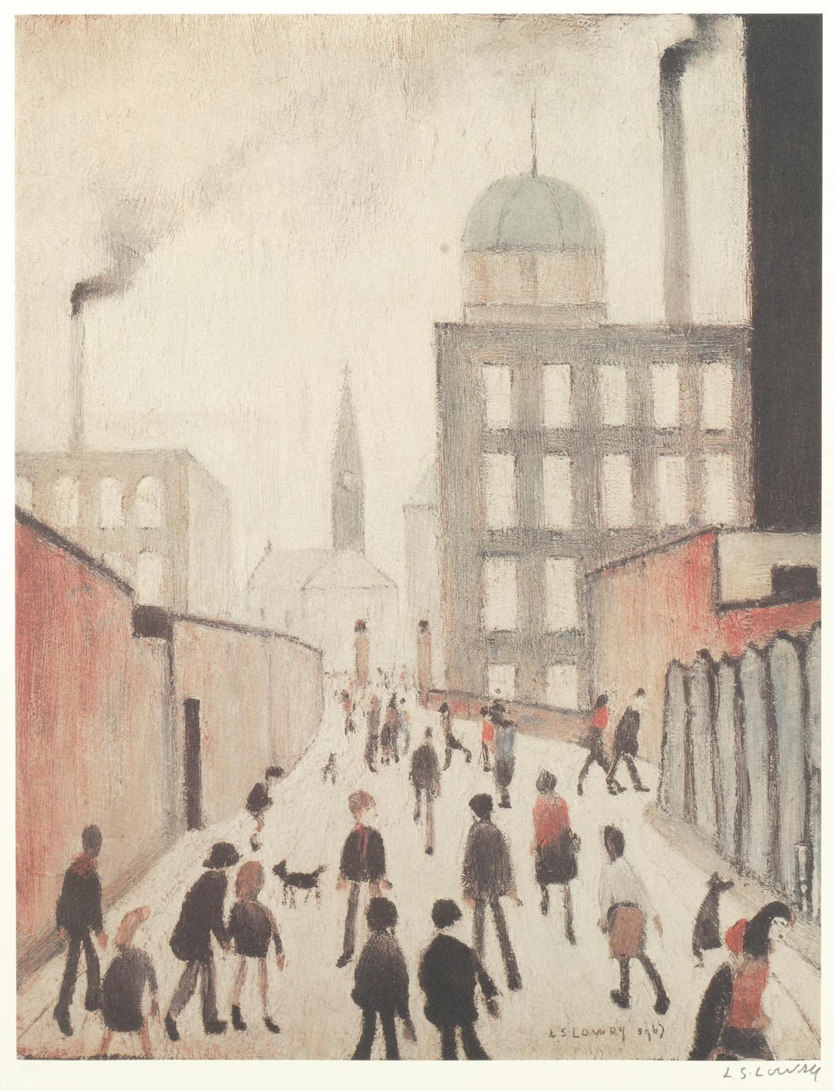 Laurence Stephen Lowry-Mrs Swindells Picture-