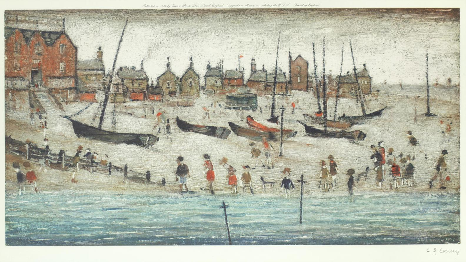 Laurence Stephen Lowry-Deal Beach; And Deal Sketch-1973