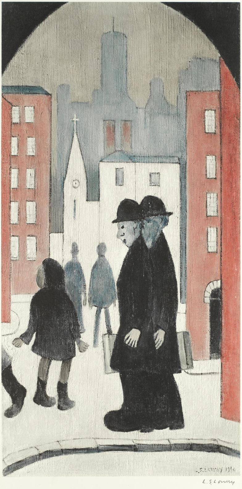 Laurence Stephen Lowry-Two Brothers-