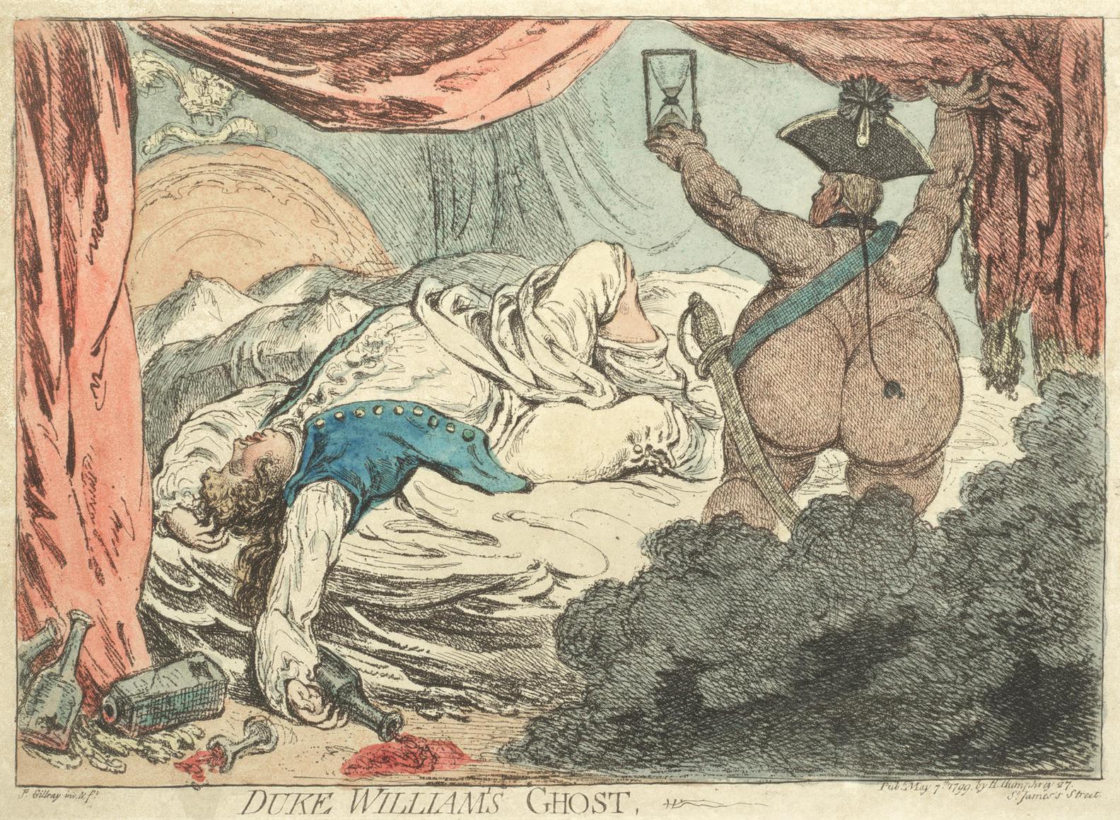 James Gillray-Duke Williams Ghost-1799
