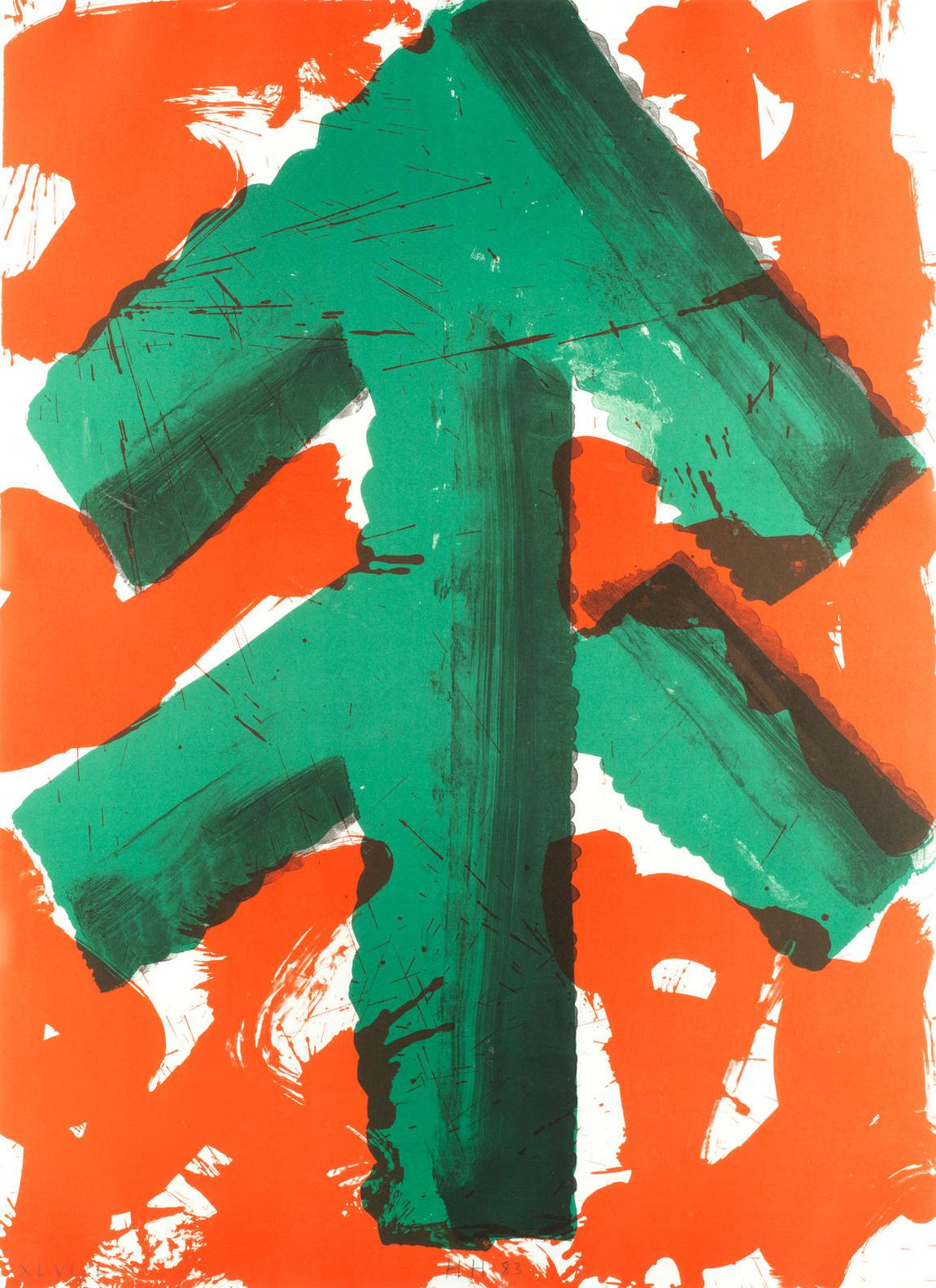 Sir Howard Hodgkin - Welcome, From Art And Sports Portfolio (Winter Sports)-1983